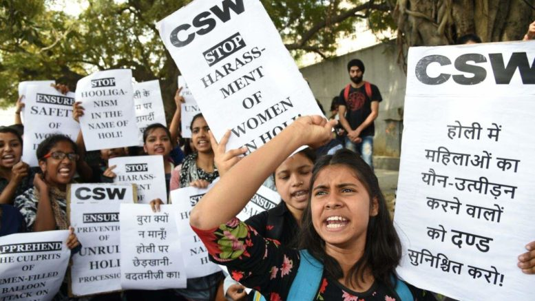Protests in Delhi over semen filled balloons attacks on women