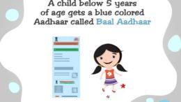 Baal Aadhaar.