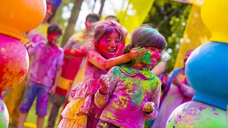 Holi party in office
