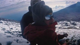 7 year old boy climbs Kilimanjaro peak