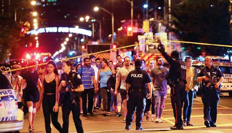 Toronto Shooting Leaves 2 Dead Including Gunman, 13 Hurt