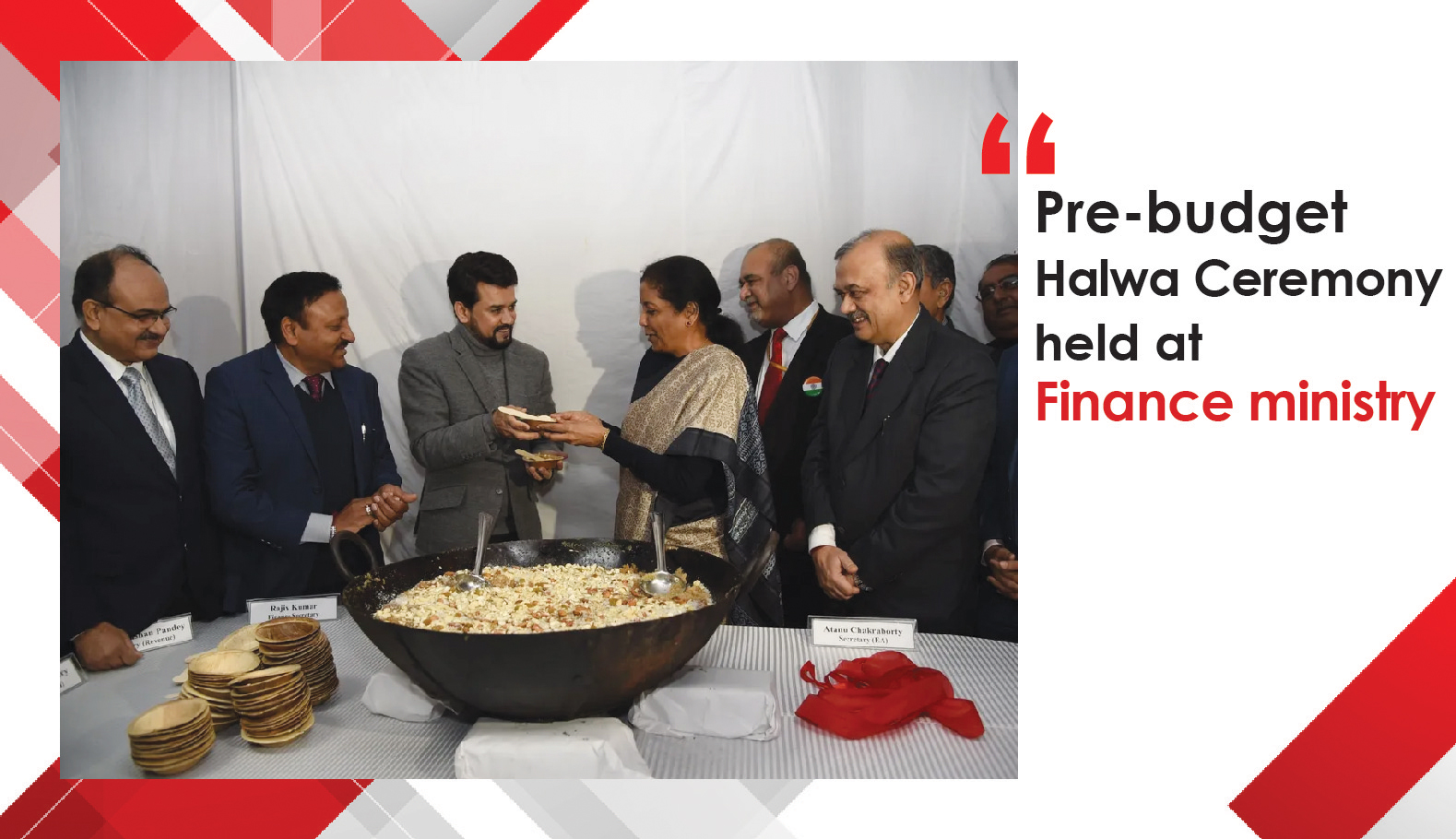 Pre-budget Halwa Ceremony held at Finance ministry